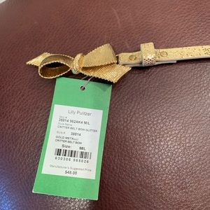 NWT Lilly Pulitzer Critter Bow Belt